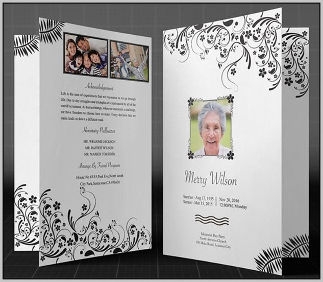 Funeral Program Template Word 2010 Unique Free Funeral Program Templates for Microsoft Word