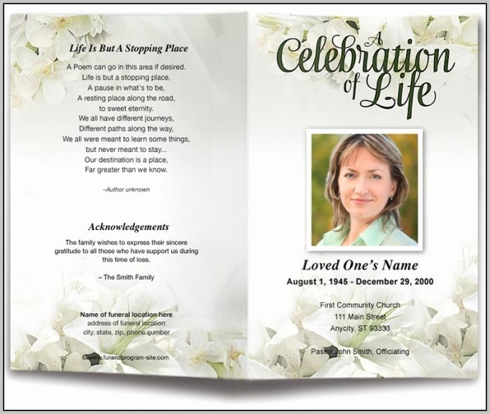 Funeral Program Template Word 2010 Unique Funeral Program Template Word Template Resume Examples