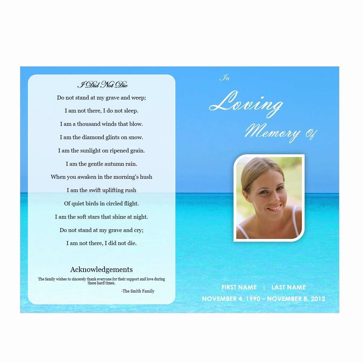 Funeral Program Template Word 2010 Unique Luxury Free Funeral Program Template Download 2010