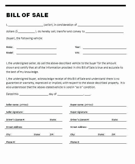 Ga Vehicle Bill Of Sale Elegant Auto Bill Sale Template Pdf Ga Vehicle Bill Sale