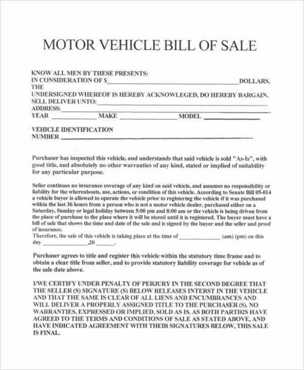 Ga Vehicle Bill Of Sale Elegant Bill Sale for Car In Ga