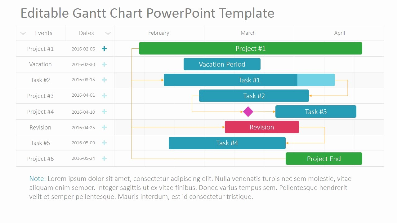 Gantt Chart Powerpoint Template Free Beautiful Pin Project Timeline Template Powerpoint Free On Pinterest