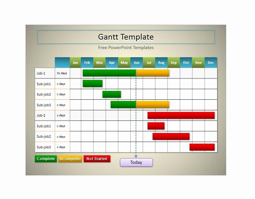 Gantt Chart Powerpoint Template Free Elegant 36 Free Gantt Chart Templates Excel Powerpoint Word