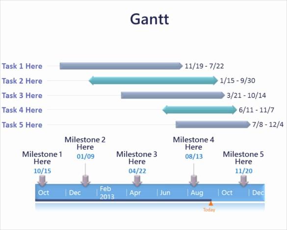 Gantt Chart Powerpoint Template Free Elegant 7 Powerpoint Gantt Chart Templates Free Sample Example