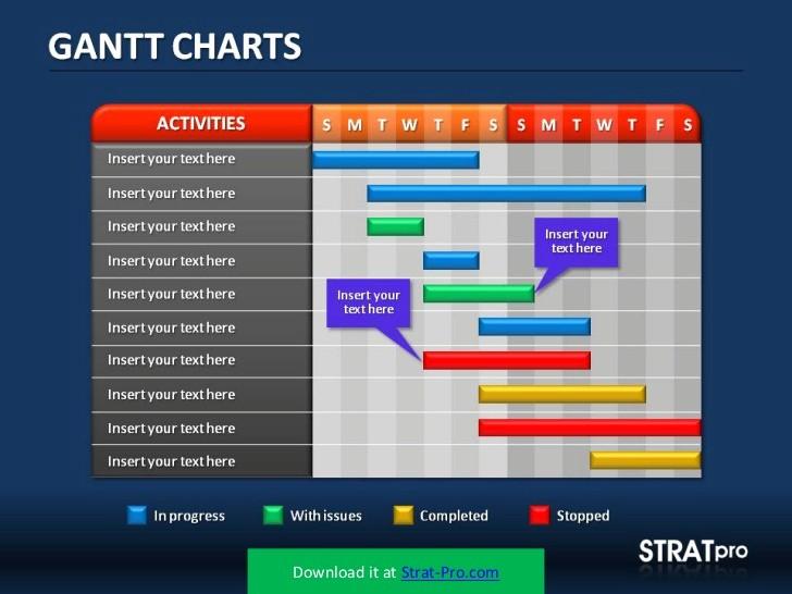 Gantt Chart Powerpoint Template Free Elegant Gantt Charts Powerpoint Template by Stratpro