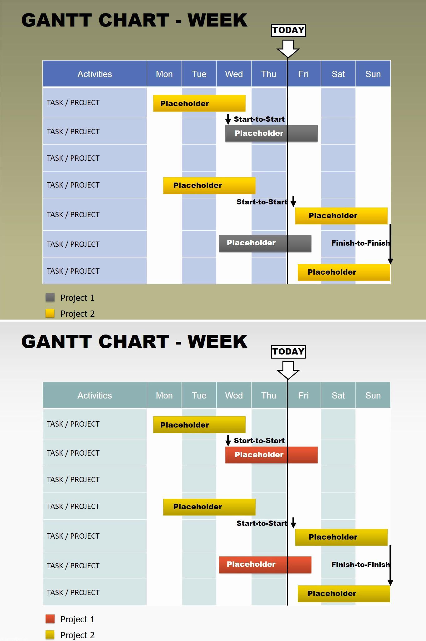 Gantt Chart Powerpoint Template Free Inspirational Free Gantt Week Powerpoint Charts