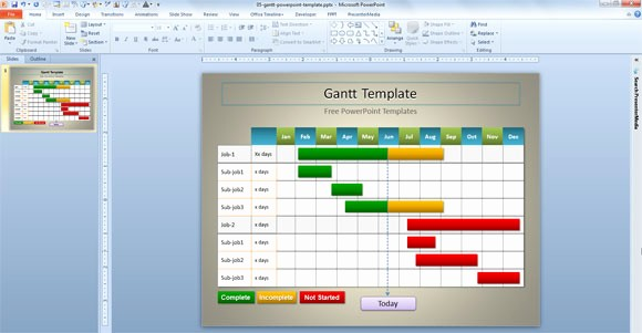 Gantt Chart Powerpoint Template Free Inspirational Simple Gantt Template for Powerpoint