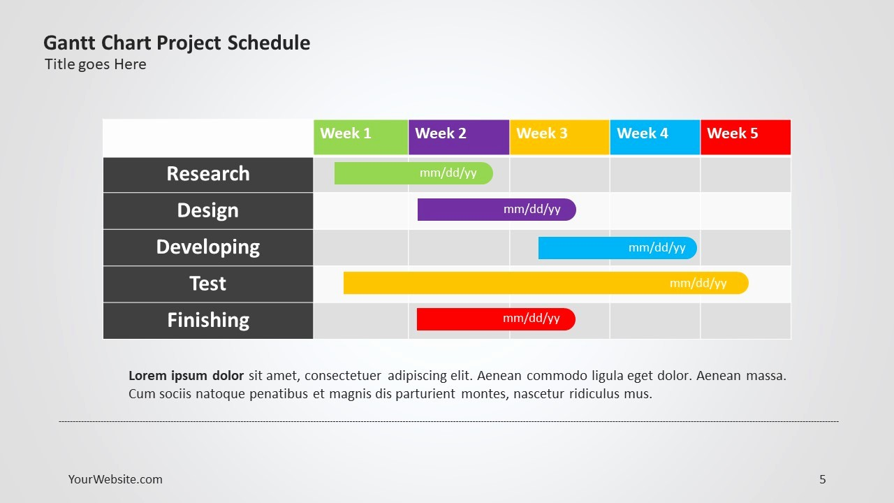 Gantt Chart Powerpoint Template Free Luxury Gantt Chart Project Ppt Slide Ocean