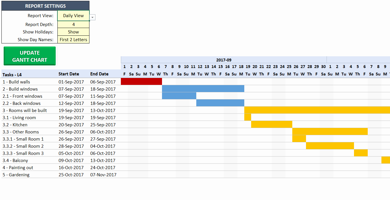 Gantt Chart Template for Excel Awesome Excel Gantt Chart Template Easily Create Your Gantt Chart