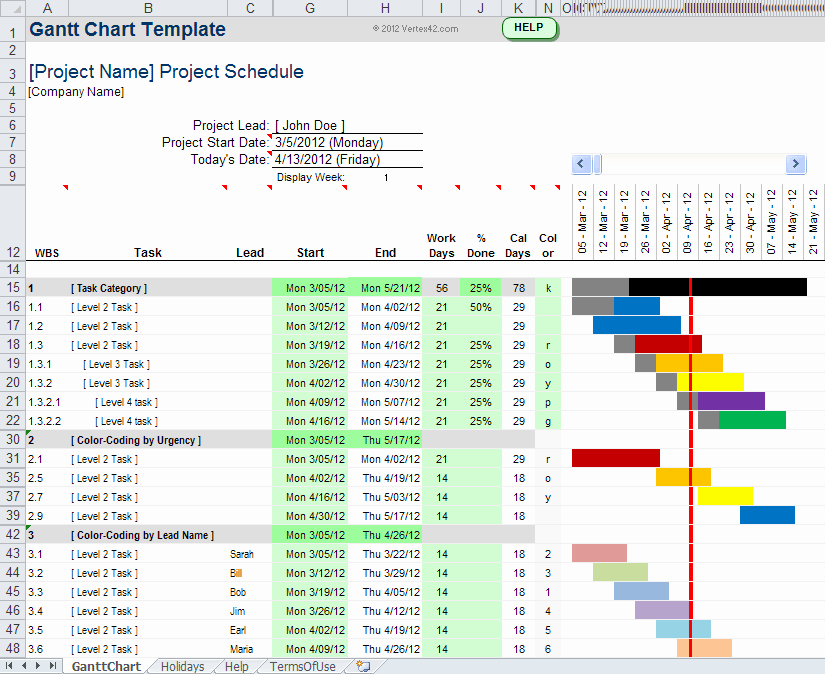Gantt Chart Template for Excel Lovely Gantt Chart Template Pro for Excel