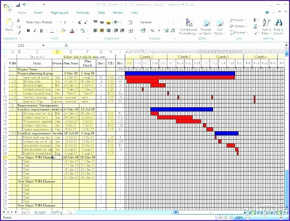 Gantt Chart Template for Excel Lovely How to Create A Gantt Chart Template Using Excel 2007 or