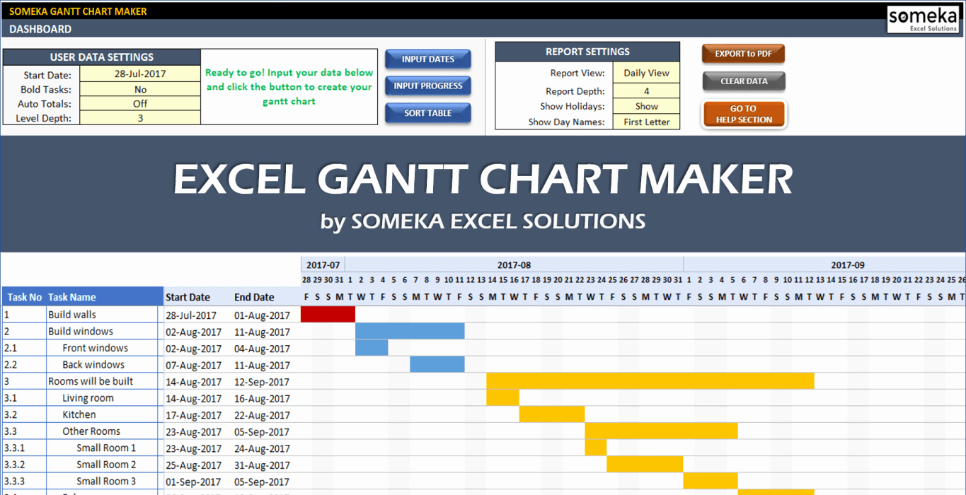 Gantt Chart Template for Excel New Excel Gantt Chart Template Easily Create Your Gantt Chart