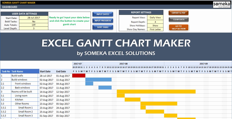 Gantt Chart Template for Excel New Excel Gantt Chart Template Easily Create Your Gantt Chart