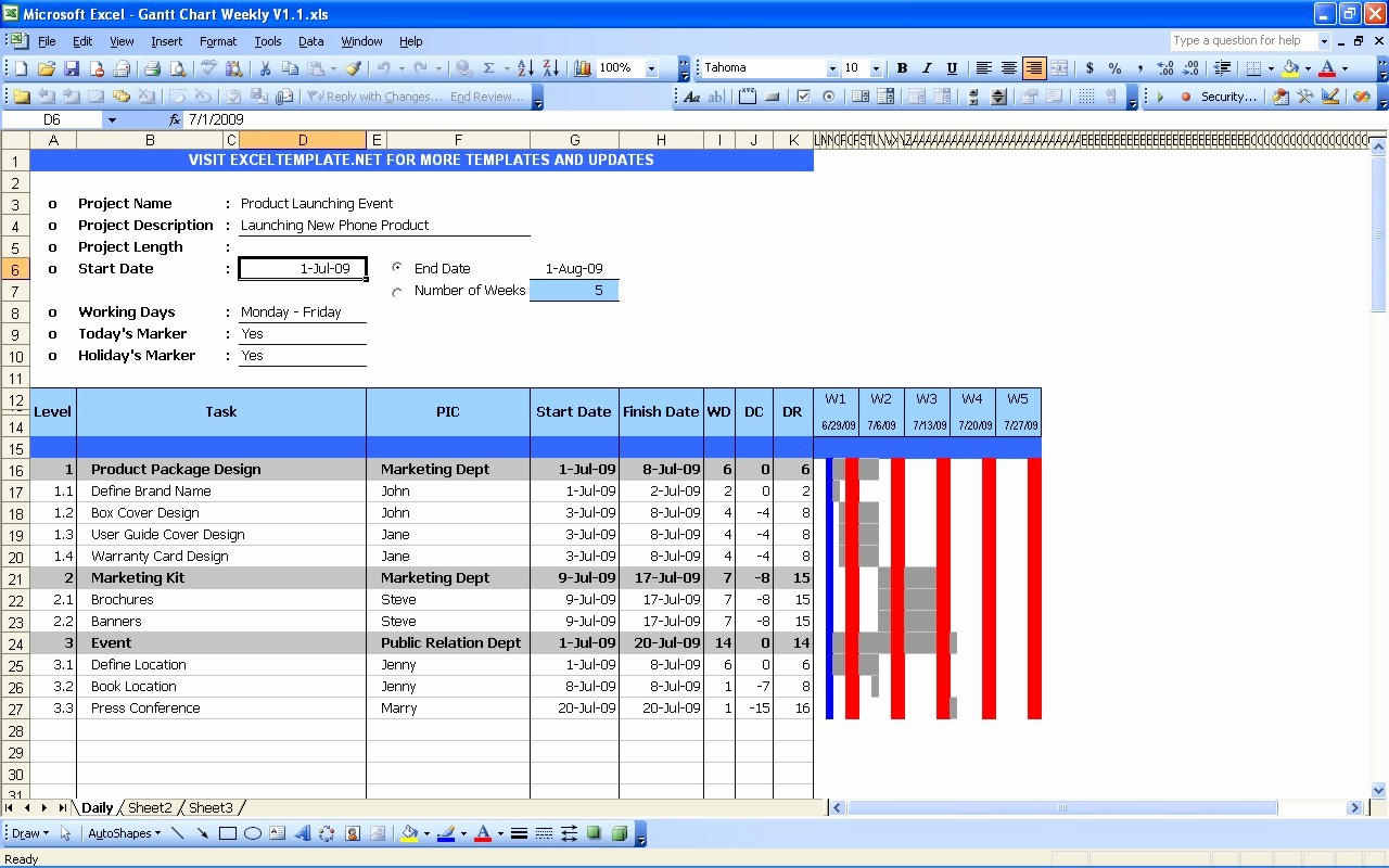 Gantt Chart Template Free Download Awesome Free Gantt Chart Template