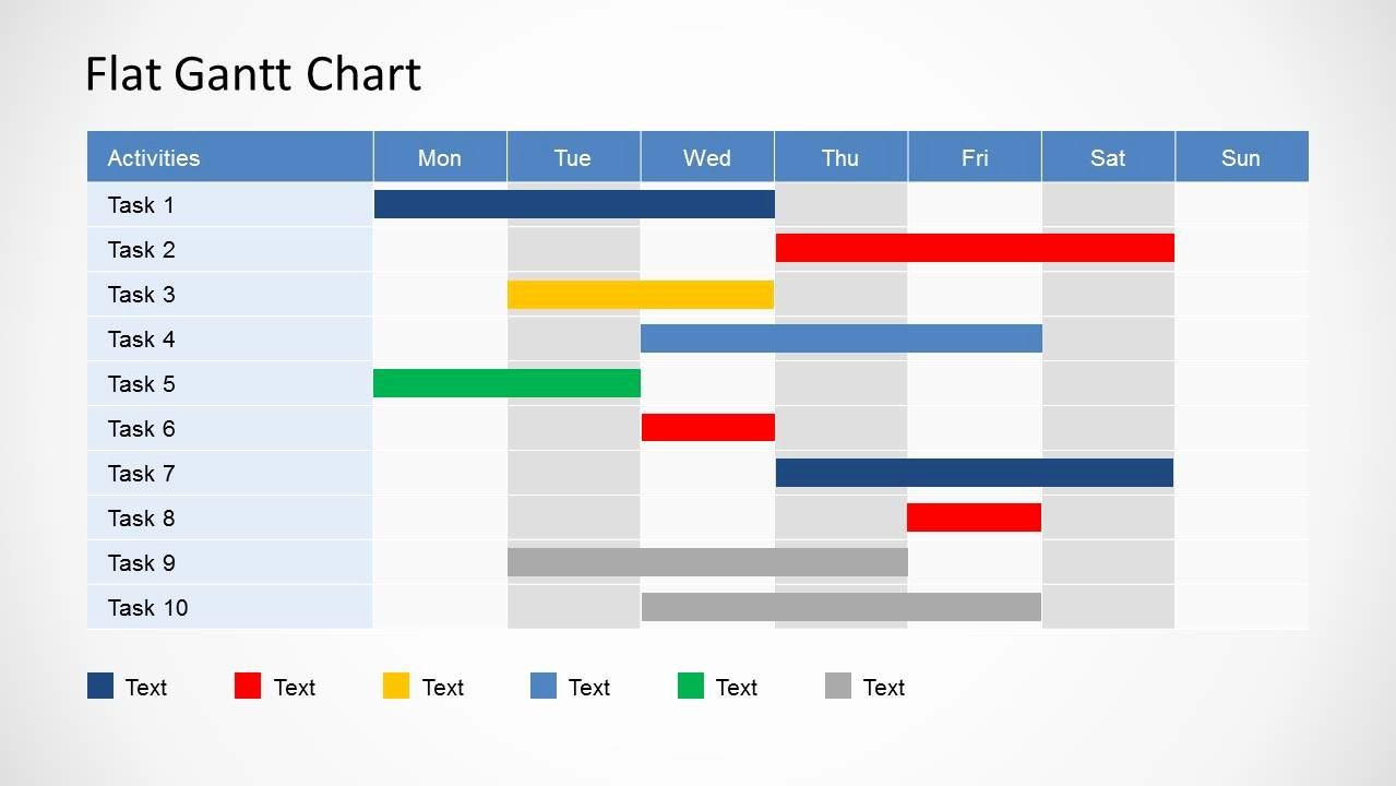 Gantt Chart Template Free Download Fresh Simple Gantt Chart Powerpoint Template Slidemodel
