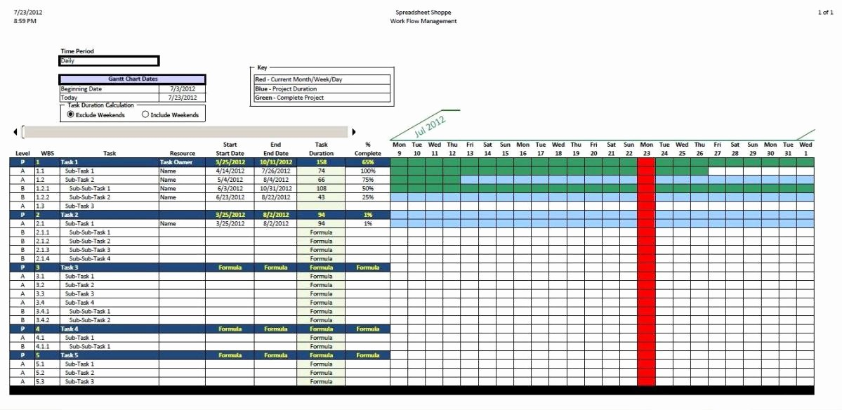 Gantt Chart Template Free Download Inspirational Free Excel Gantt Chart Template Download
