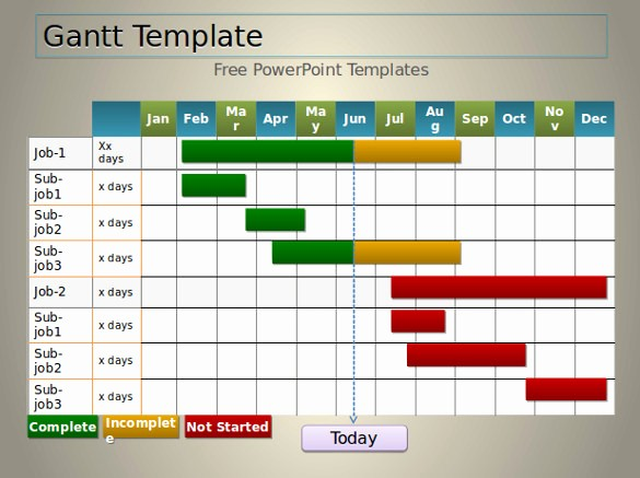Gantt Chart Template Free Download Lovely 7 Powerpoint Gantt Chart Templates Free Sample Example