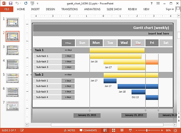 Gantt Chart Template Free Download Lovely Animated Gantt Chart Powerpoint Templates