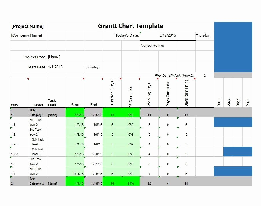 Gantt Chart Template Free Download Luxury 37 Free Gantt Chart Templates Excel Powerpoint Word