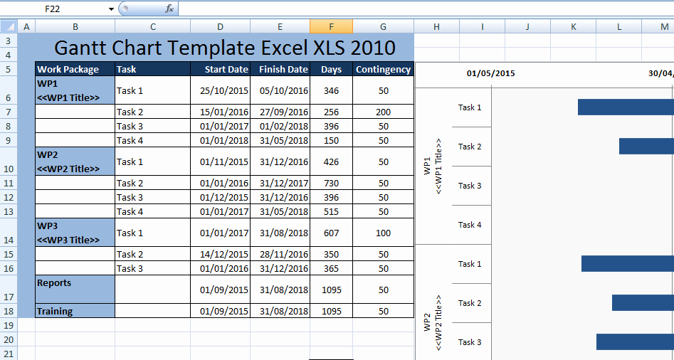 Gantt Chart Template Free Download Luxury Download Excel Gantt Template Xls
