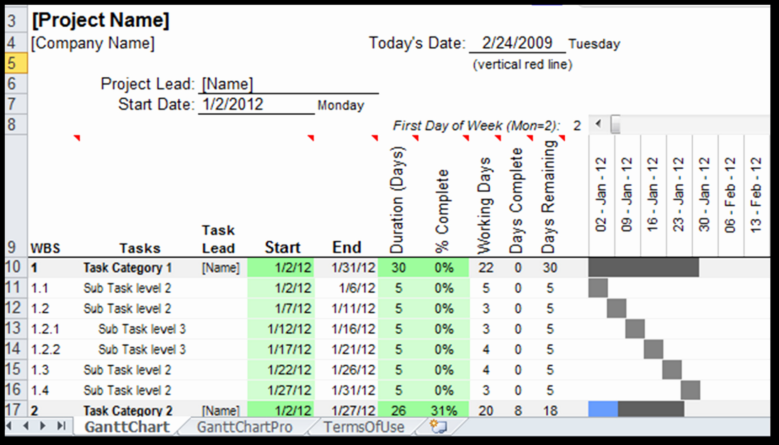Gantt Chart Template Free Download Luxury Excel Spreadsheet Gantt Chart Template Spreadsheet