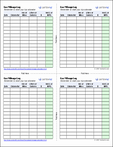 Gas Mileage Log Sheet Free Luxury Gas Mileage Log and Mileage Calculator for Excel