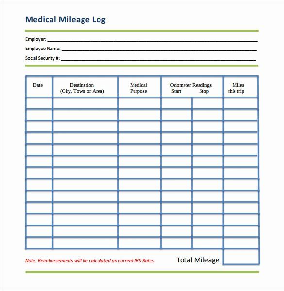 Gas Mileage Log Sheet Free New 13 Sample Mileage Log Templates to Download