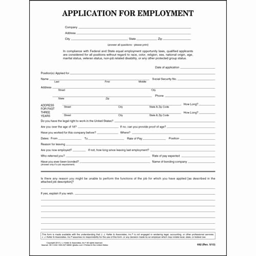 General Application for Employment Template Awesome General Application for Employment Template