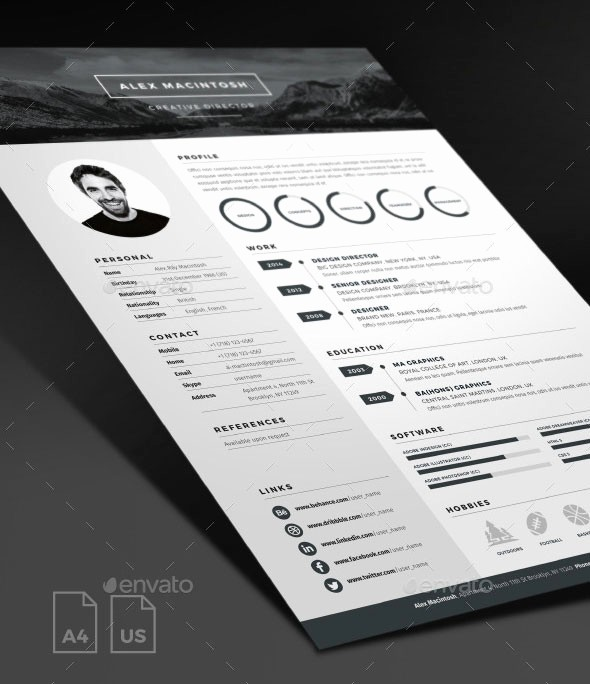 "General Dynamics Business Card Template Lovely 25 Psd Resume Templates that Will Make Recruiters ""want"