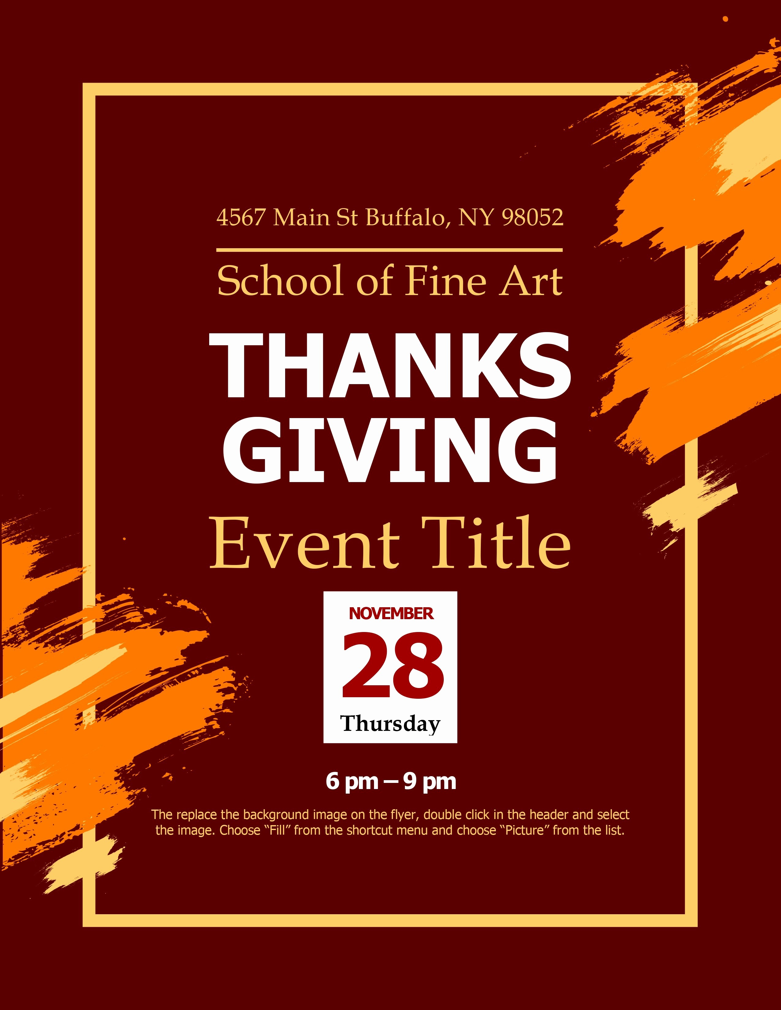 General Dynamics Business Card Template Unique Modern Thanksgiving Flyer
