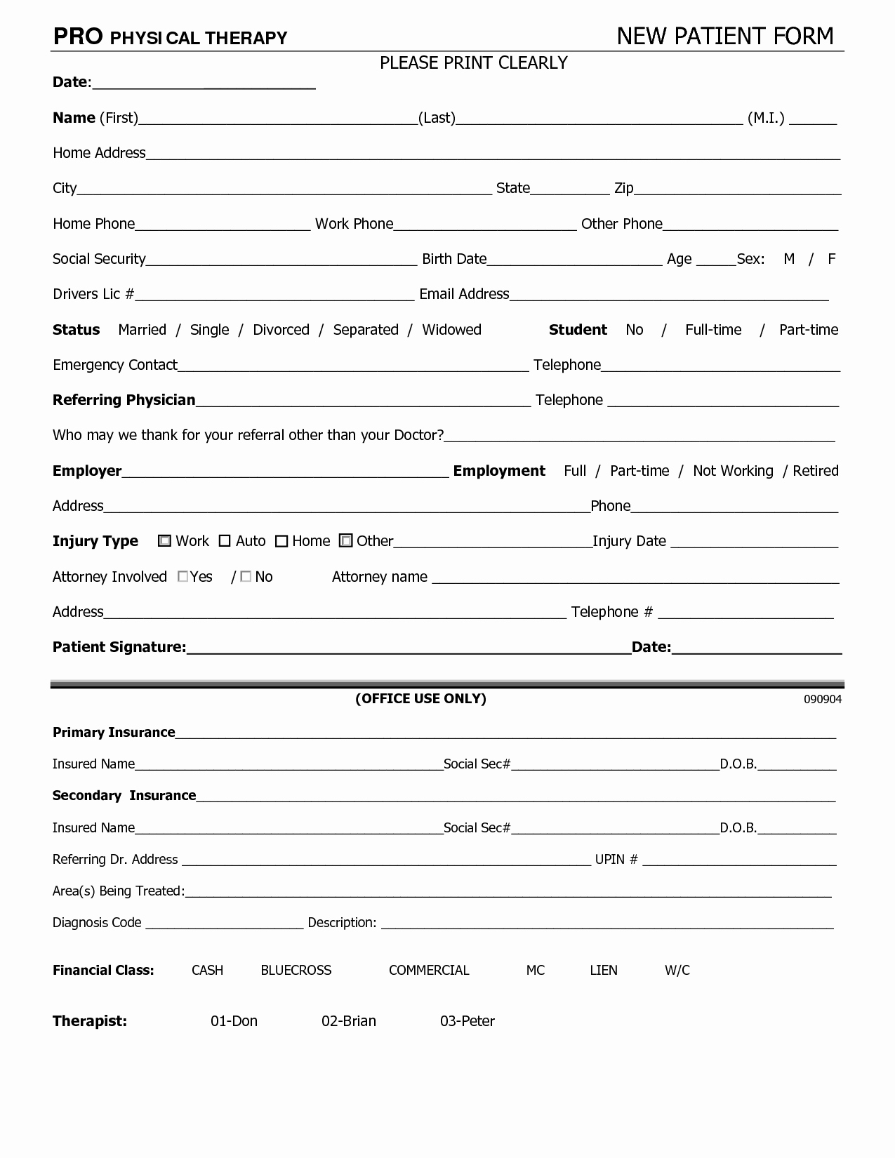 General Physical form for Employment Best Of Work Physical Exam Blank form Bing Images