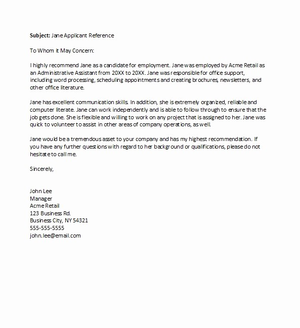 General Recommendation Letter for Employee Awesome 50 Best Re Mendation Letters for Employee From Manager