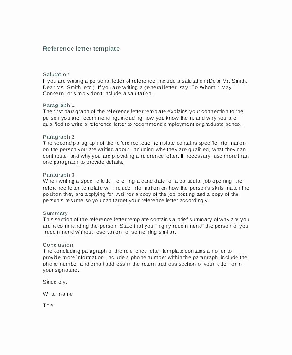 General Recommendation Letter for Employee Awesome How to Write A General Re Mendation Letter Reference