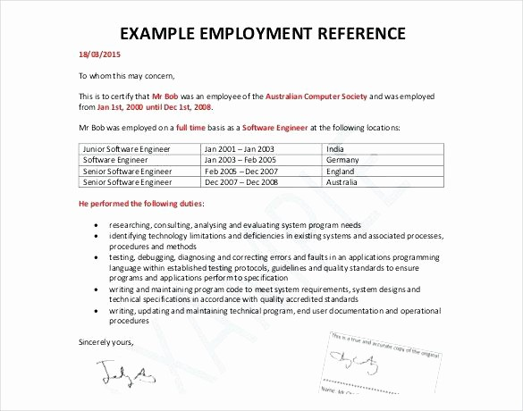 General Recommendation Letter for Employee Beautiful 8 Reference Letter format for Employee Ideas Collection