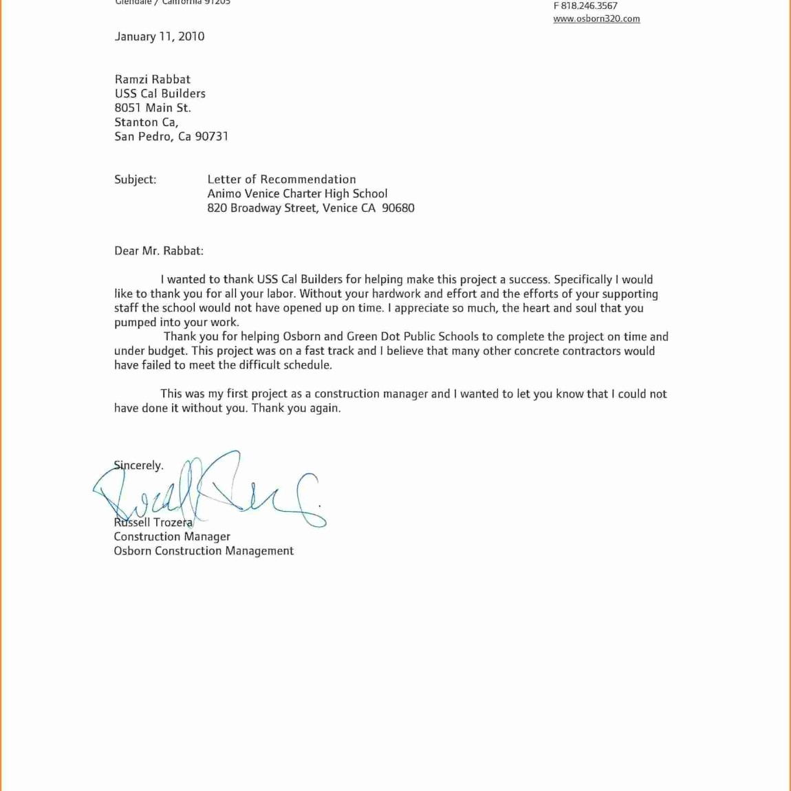 General Recommendation Letter for Employee Best Of General Re Mendation Letter for Employee