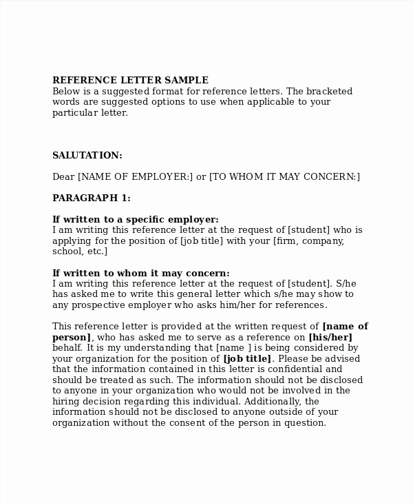 General Recommendation Letter for Employee Inspirational General Employment Reference Letter Sample