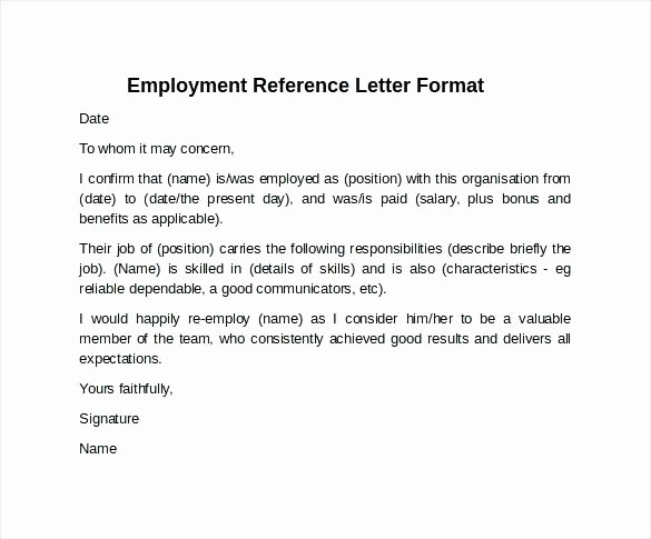 General Recommendation Letter for Employee Lovely 8 Reference Letter format for Employee Ideas Collection
