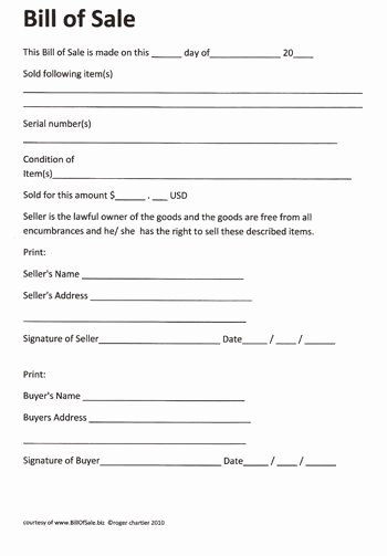 Generic Bill Of Sale Motorcycle Awesome Printable Sample Rv Bill Of Sale form form