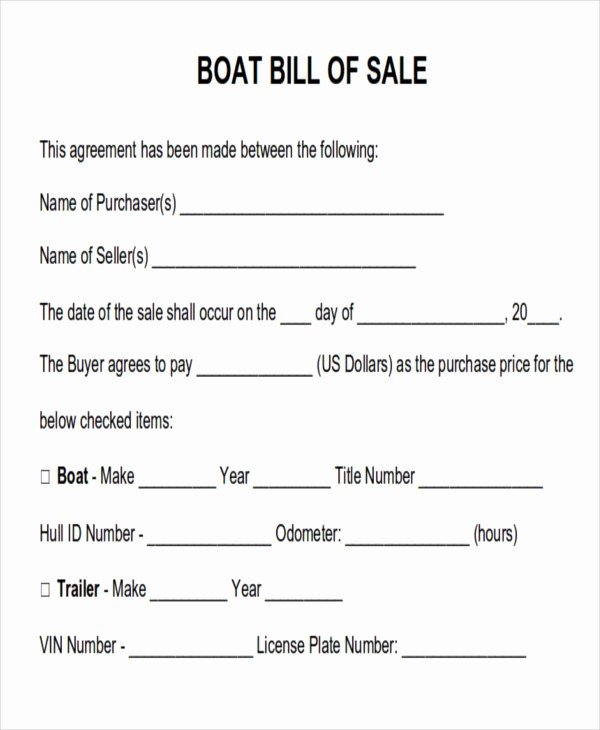 Generic Bill Of Sale Pdf Awesome 7 Generic Bill Of Sales