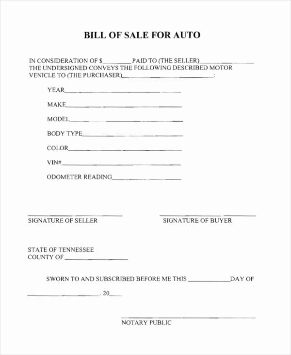 Generic Bill Of Sale Pdf Best Of Sample Generic Bill Of Sale form 10 Free Documents In Pdf