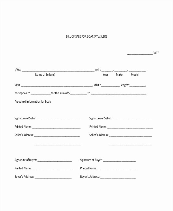 Generic Bill Of Sale Pdf Inspirational Sample Generic Bill Of Sale form 10 Free Documents In Pdf