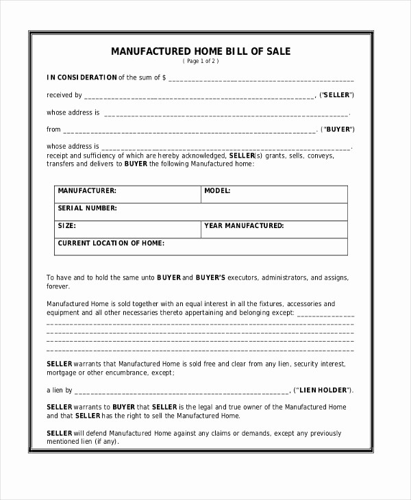 Generic Bill Of Sale Pdf Lovely Sample Generic Bill Of Sale form 10 Free Documents In Pdf