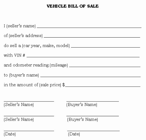 Generic Bill Of Sale Vehicle Awesome Bill Sale Alabama