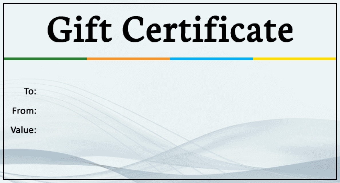 Generic Gift Certificate Template Free Beautiful Generic Gift Certificate Gift Ftempo