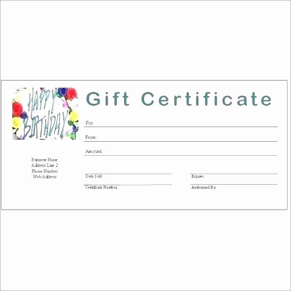 Generic Gift Certificate Template Free Elegant Generic Gift Certificate Template Free Printable Gift