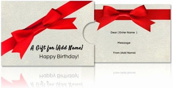 Generic Gift Certificate Template Free Fresh Free Diy Custom Gift Card Holders