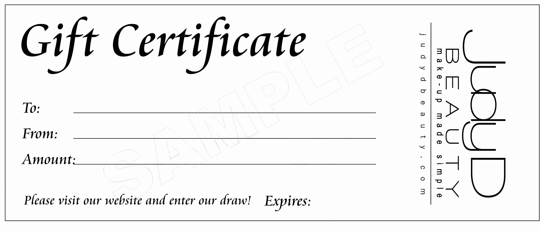 Generic Gift Certificate Template Free Fresh Generic Gift Certificate Gift Ftempo