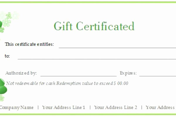 Generic Gift Certificate Template Free Fresh Generic T Certificate Template – Dazzleshotsfo