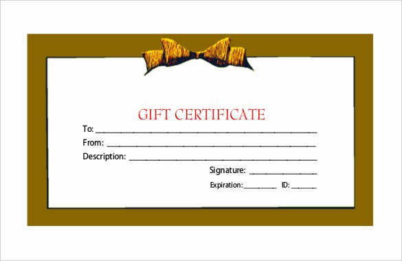 Generic Gift Certificate Template Free Inspirational Generic Gift Certificate Gift Ftempo