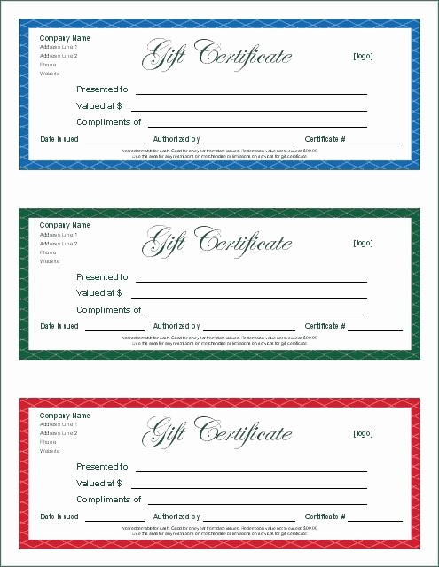 Generic Gift Certificate Template Free Lovely Gift Certificate Template Google Docs